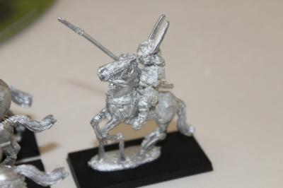 General auf Pferd